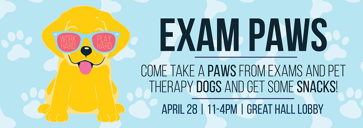 graphic for exam paws event