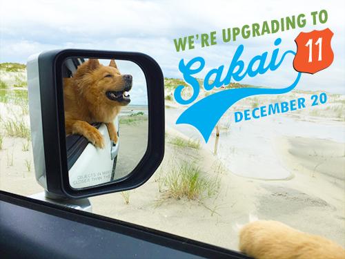 sakai 11 upgrade announcement